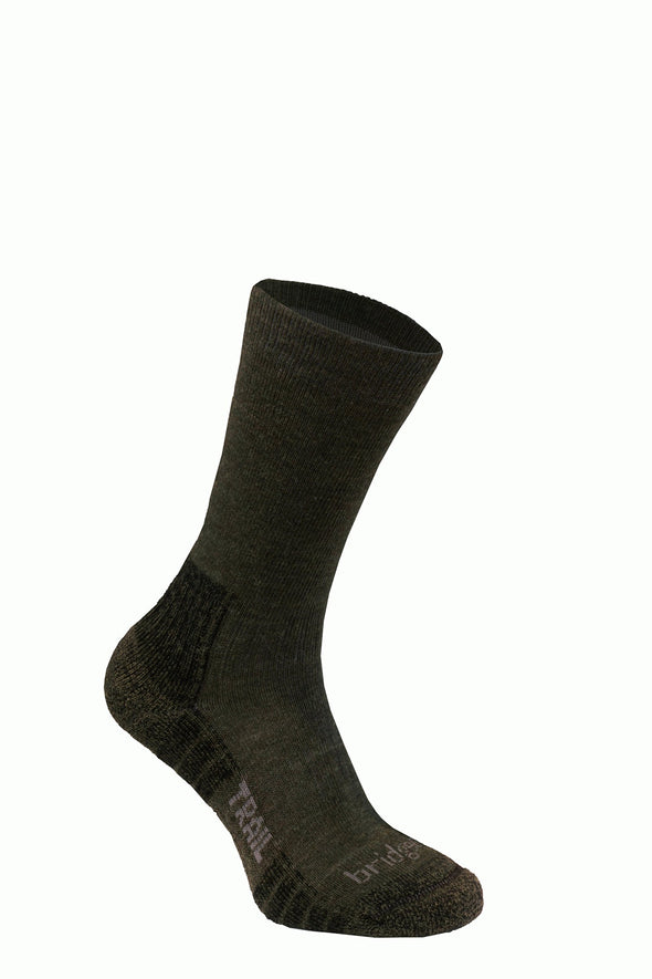Bridgedale Men's Trail Socks, Dark Green, Medium