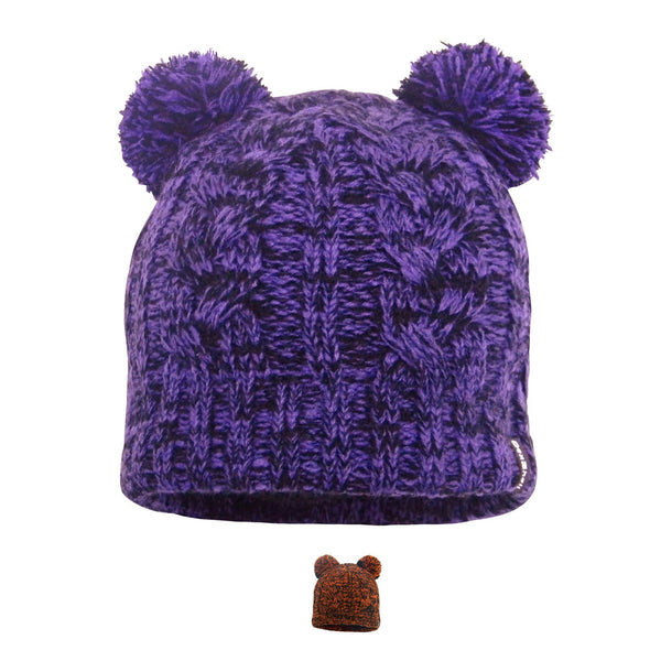 DexShell Waterproof Children's Cable Knit Twin Pompom Beanie