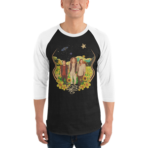 'Sunshine' 3/4 sleeve raglan shirt