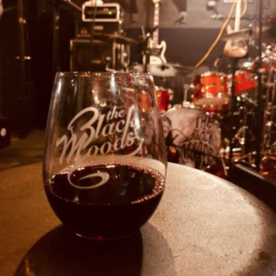 The Black Moods Stemless Wine Glass
