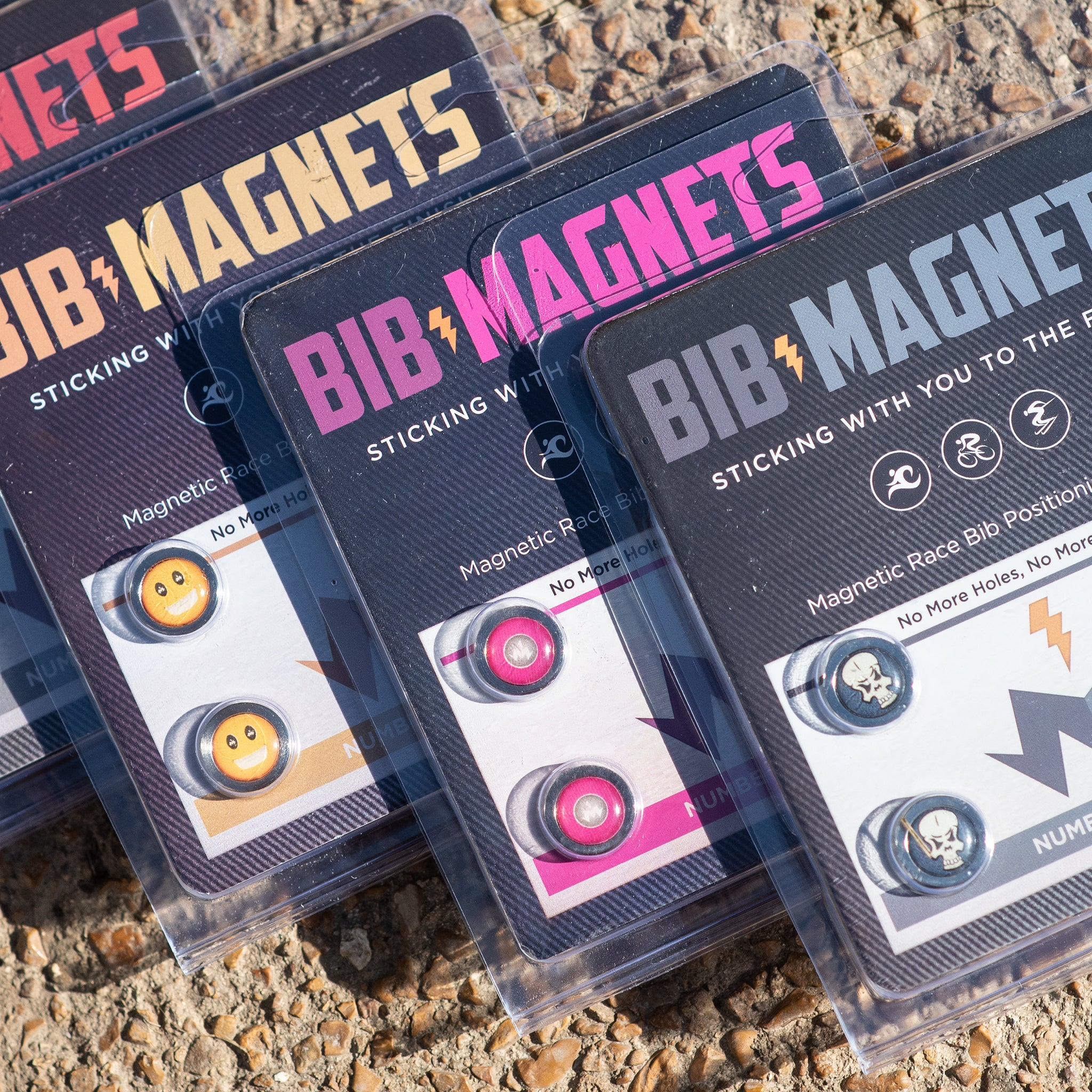 Pink Power Bib Magnets Alt