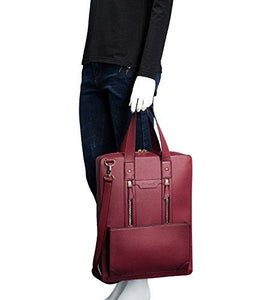 Bertasche Women PU Leather Business Briefcase Handbag