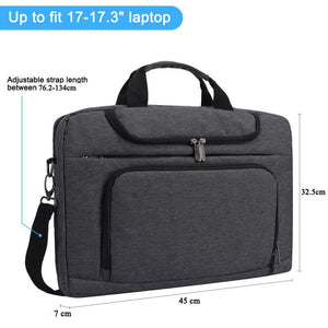 Bertasche Laptop Messenger Shoulder Bag 14-17.3 Inch