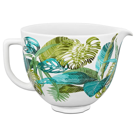 Tropical Floral Ceramic Bowl