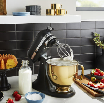 4.8L Radiant Gold Stainless Steel Bowl for Tilt-head Stand Mixer KSM5SSBRG