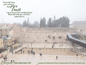 Trust in ADONAI Calendar 2020-2021 - COMING Mid-August! You may PRE-ORDER NOW