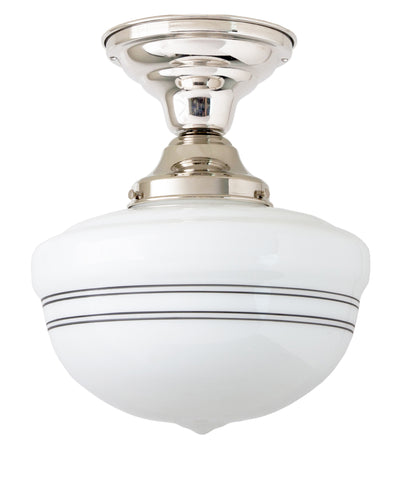 Bell Schoolhouse with Pinstripe Ceiling Fixture, 10""