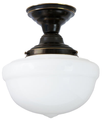 Bell Schoolhouse Ceiling Fixture, 12""