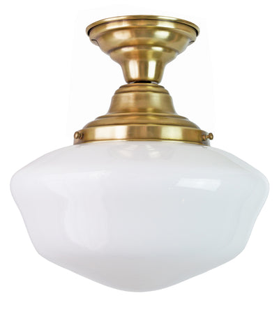 Traditional Schoolhouse Ceiling Fixture, 12""