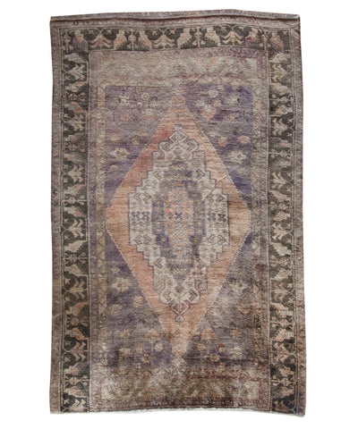 "Vintage Turkish Wool Rug, 5'3"" x 7'8'"