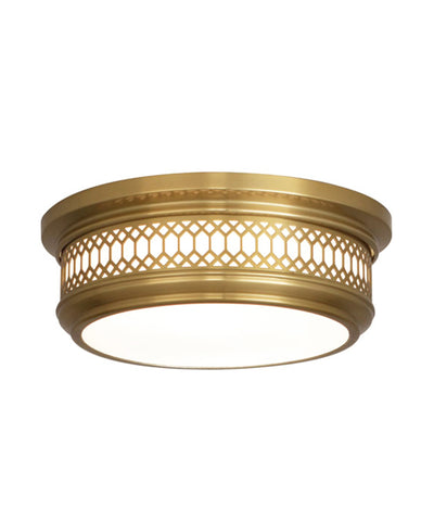 Williamsburg Tucker Flushmount, Small, Antique Brass