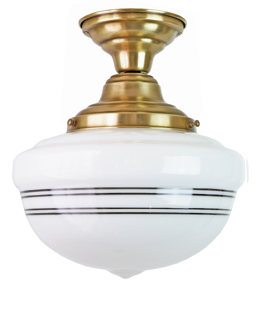 Bell Schoolhouse with Pinstripe Ceiling Fixture, 12""