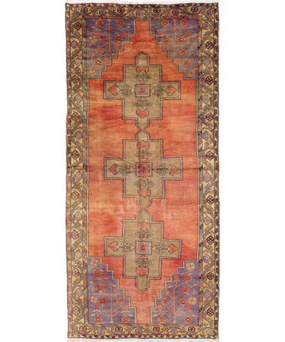 "Hand Knotted Wool Rug,  5'-0"" x 12'-5"""