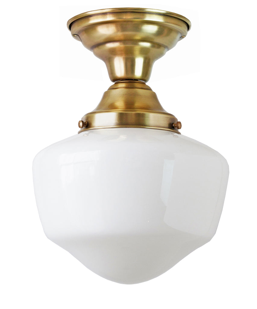 Traditional Schoolhouse Ceiling Fixture, 8""