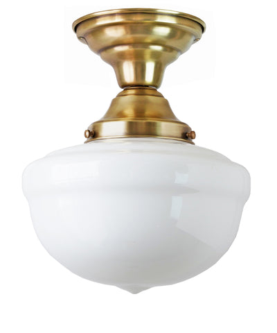 Bell Schoolhouse Ceiling Fixture, 10""
