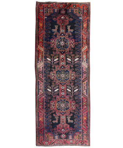 "Vintage Turkish Wool Runner, 3'5"" x 9'5"""