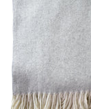 Italian Herringbone Throw Blanket, Light Gray