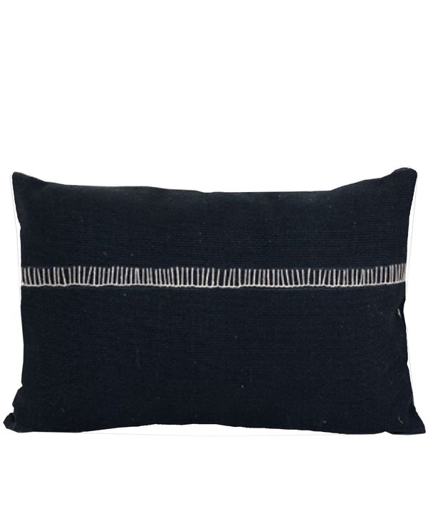 Alyssa Lumbar Pillow, Charcoal