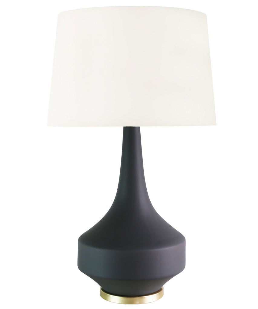 Andrea Table Lamp, Matte Charcoal