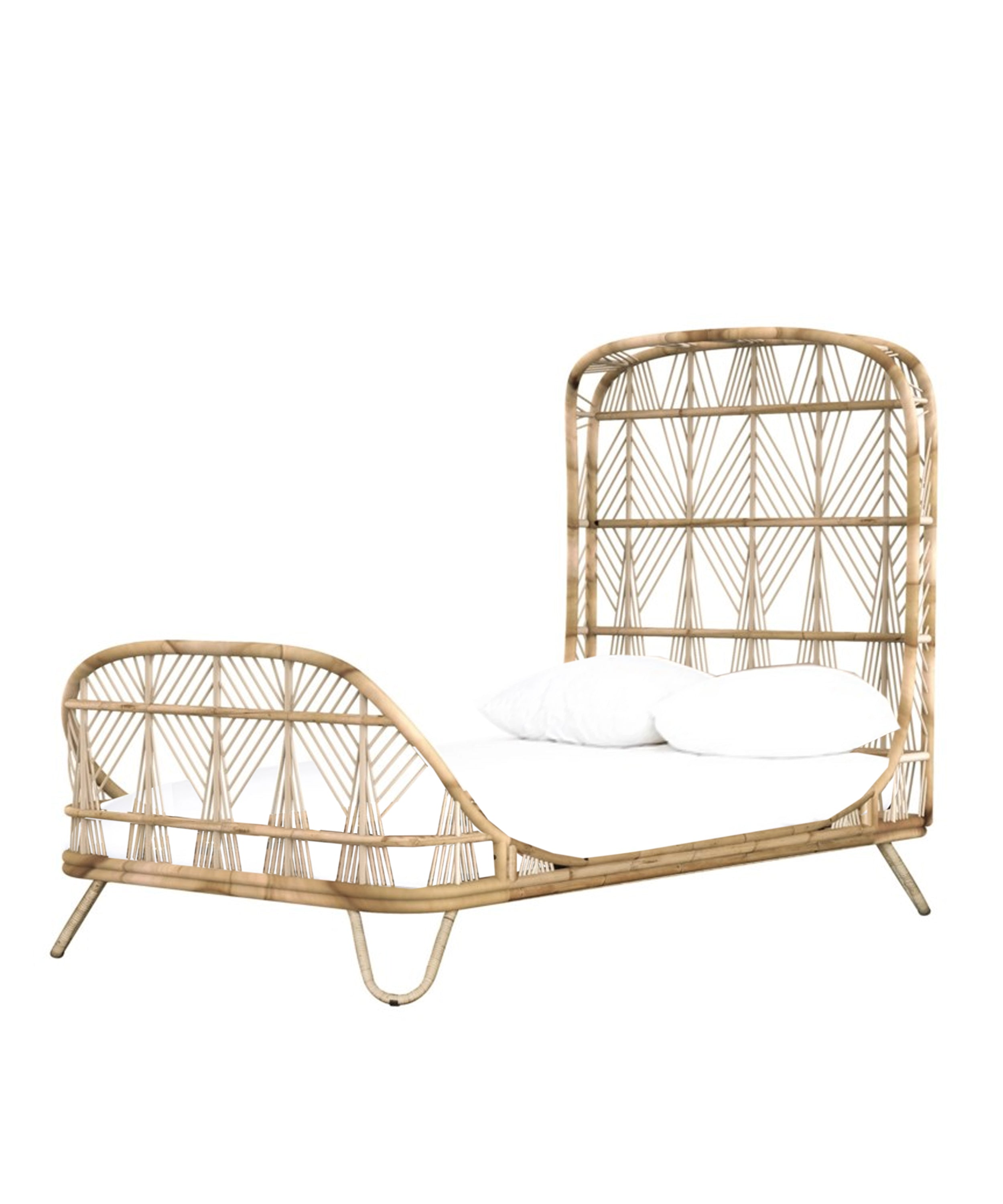 Ava Rattan Twin Bed