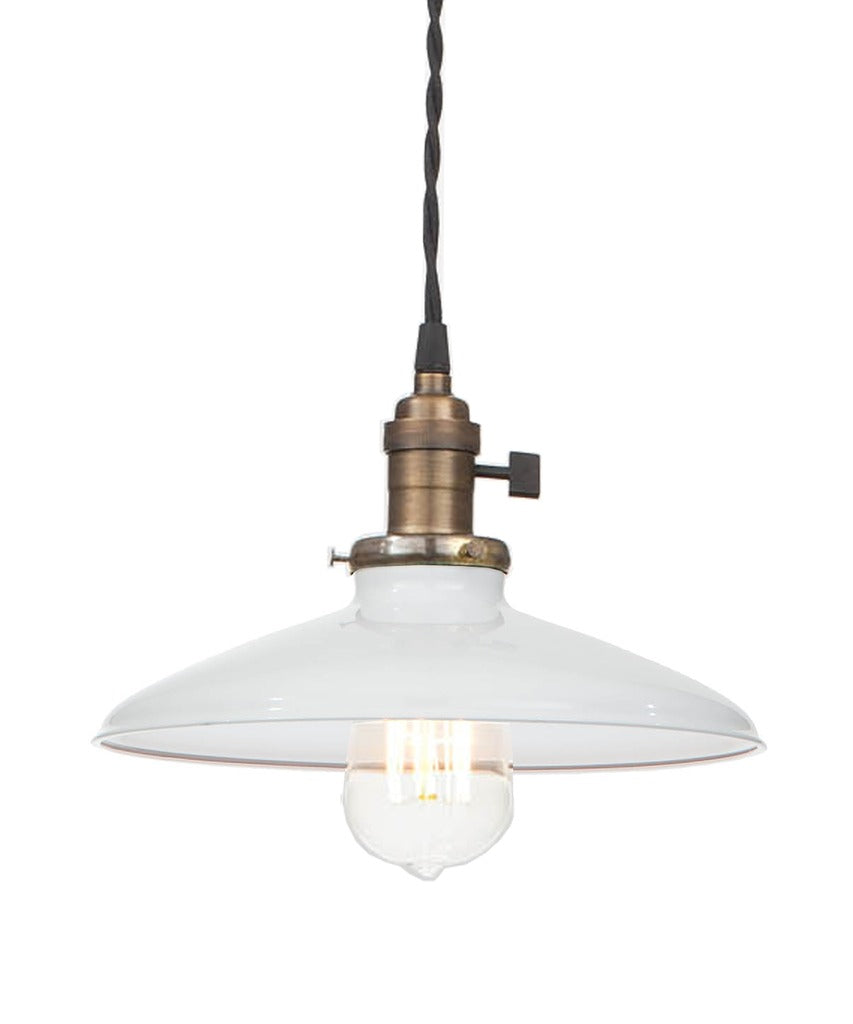 Vintage Style Edison Industrial Pendant Lamp, White