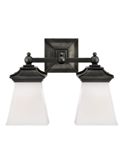 Chinoiserie Double Light Sconce, Bronze