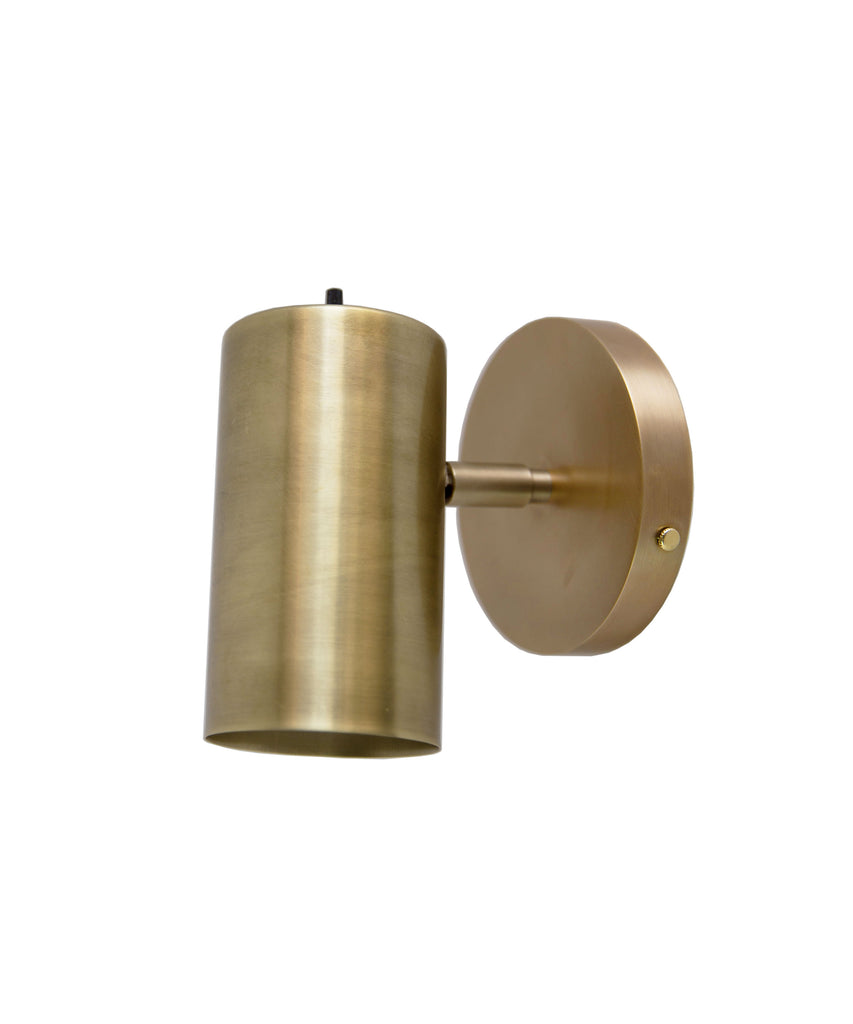 Dax Pivoting Wall Sconce, Antique Brass