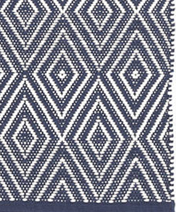 Cape May Diamond Indoor/Outdoor Rug, Navy