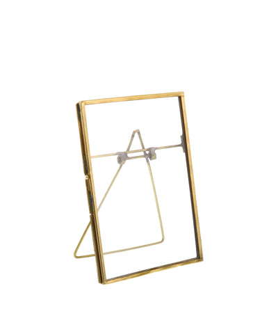 "Monarch Easel 5.75"" x 7"" Frame, Brass"