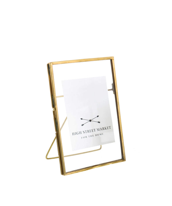 "Monarch Easel 5"" x 7"" Vertical Frame, Brass"