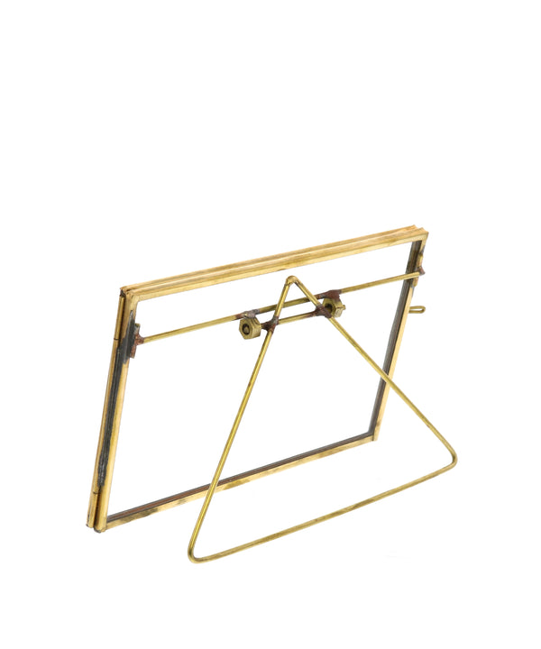 "Monarch Easel 4"" x 6"" Horizontal Frame, Brass"