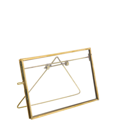 "Monarch Easel 6.75"" x 4"" Frame, Brass"