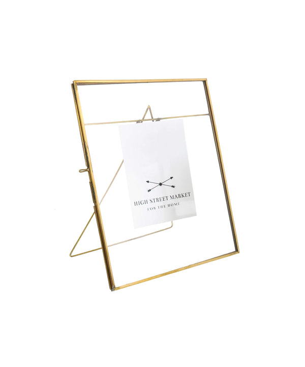 "Monarch Easel  8"" x 10"" Vertical Frame, Brass"