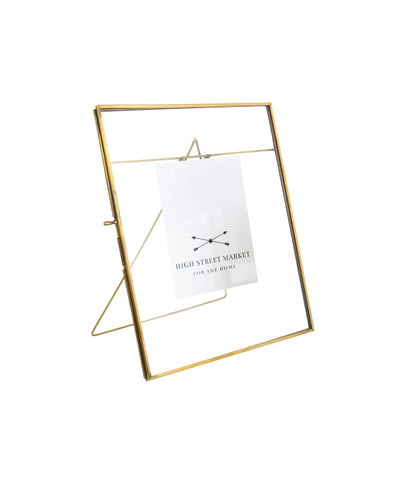 "Monarch Easel  7.75"" x 10.5"" Frame, Brass"