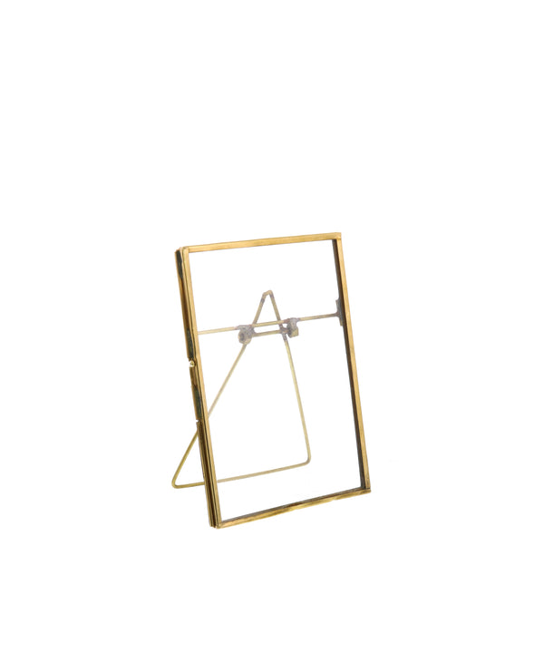 "Monarch Easel 4"" x 6"" Vertical Frame, Brass"