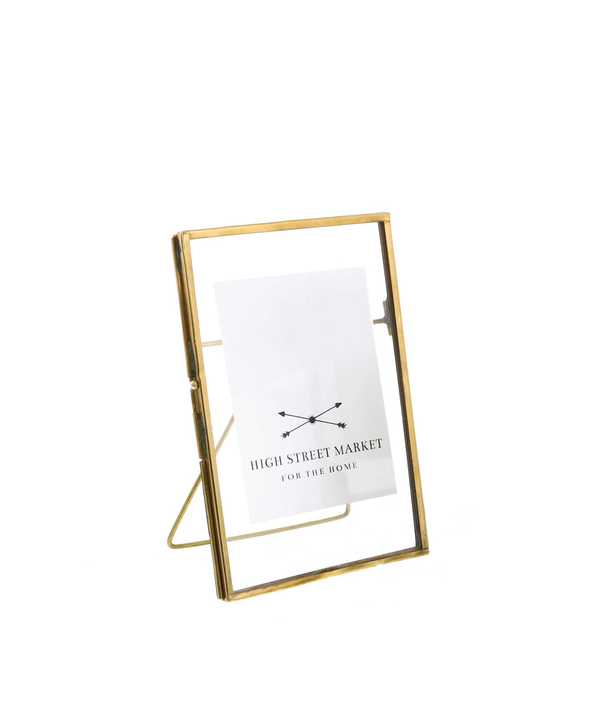 "Monarch Easel 4.75"" x 6"" Frame, Brass"