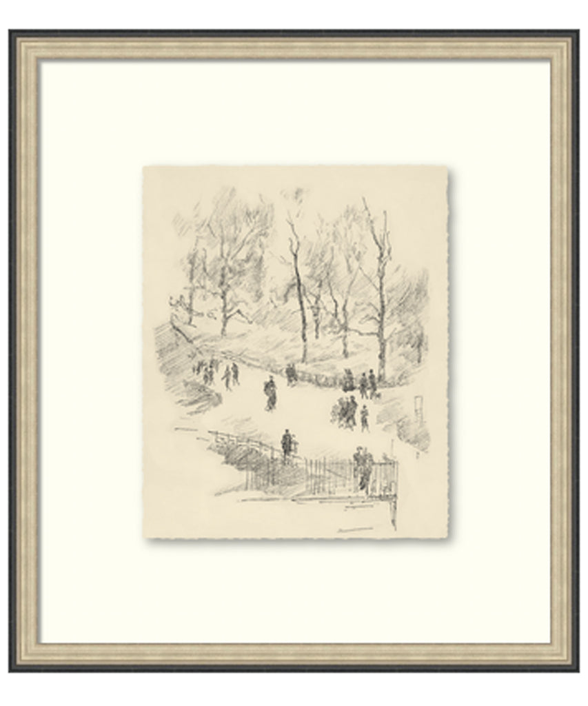 Park Walk Etching Sketch