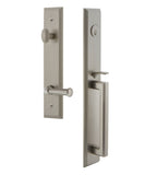 Exterior Entry Set with Rectangular Plate, One-Piece D Grip