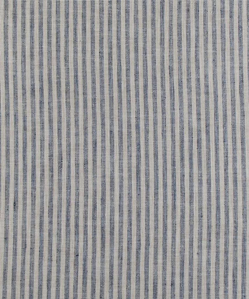 Linen Stripe, Navy (fabric by the yard)