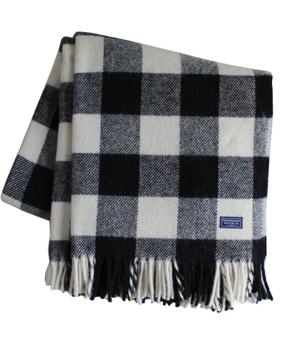 Buffalo Check Wool Throw Blanket, Faribault Woolen Mill Co.