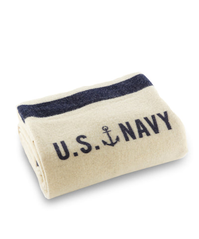 Foot Soldier Military Wool Blanket, US Navy Cream, Faribault Woolen Mill Co.