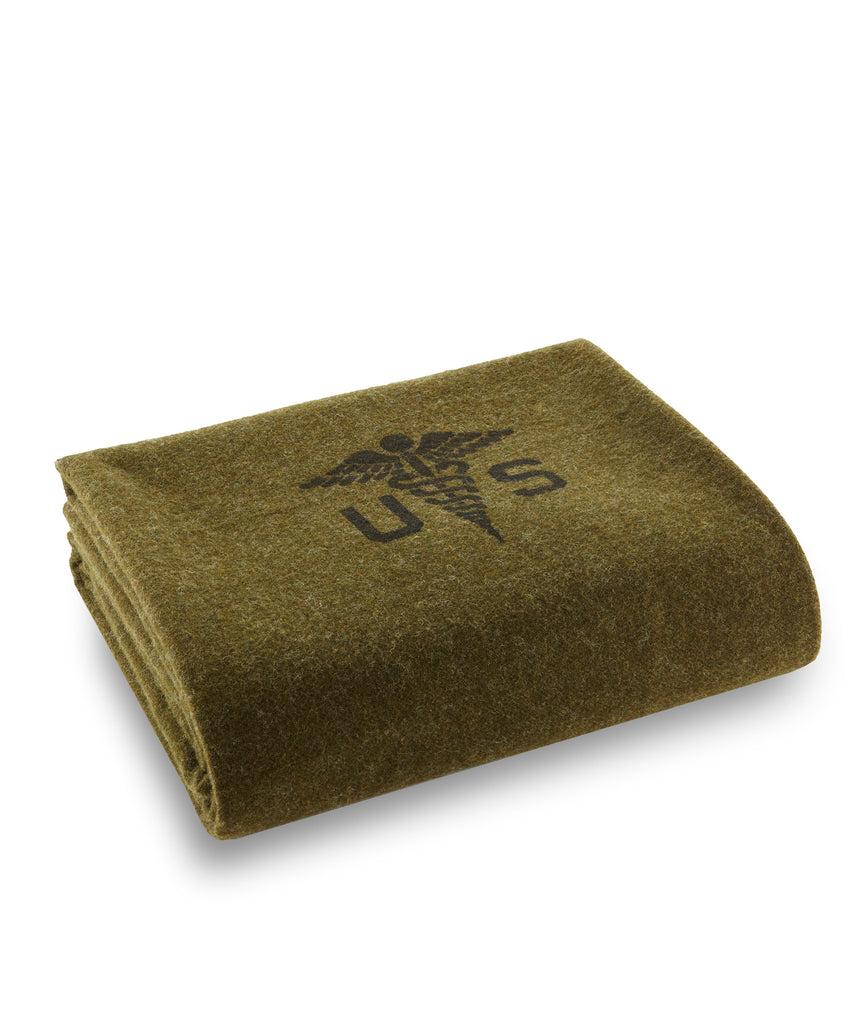 Foot Soldier Military Wool Blanket, Army Medic, Faribault Woolen Mill Co.