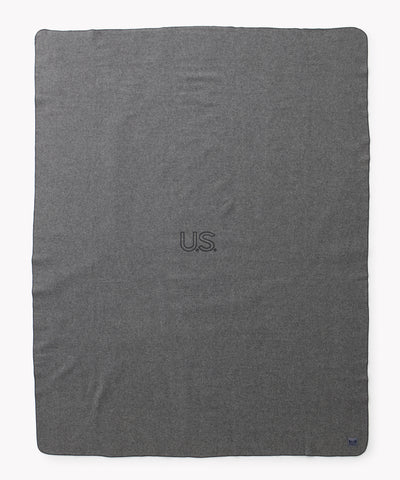 Foot Soldier Military Wool Blanket, US Navy Gray, Faribault Woolen Mill Co.