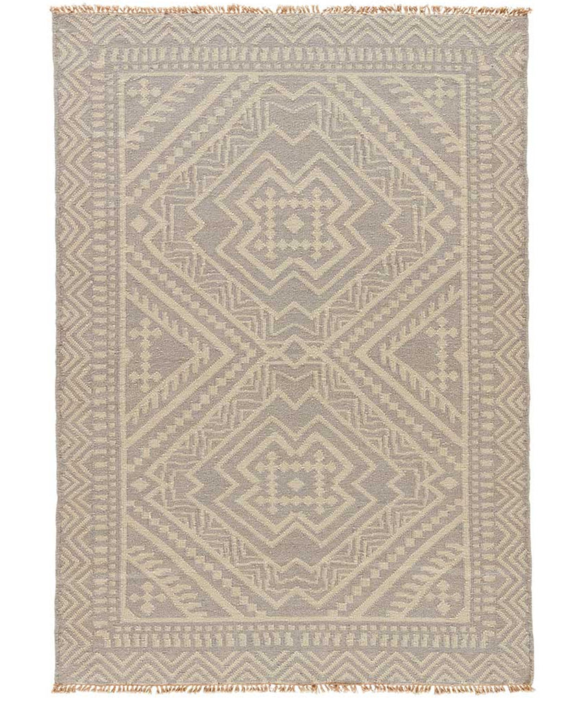 Folk Wool Rug, Gray