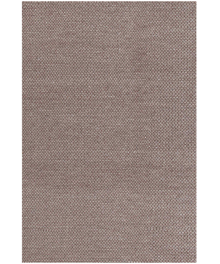 Honeycomb Woven Wool Rug, Chocolate & Grey
