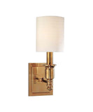 Hudson Single Light Wall Sconce, Aged Brass
