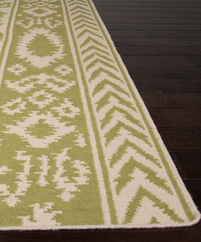 Bungalow Flat Weave Rug, Green