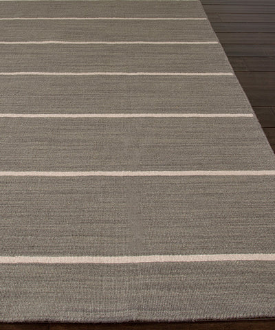 Cape Cod Stripe Flat Weave Rug, Gray