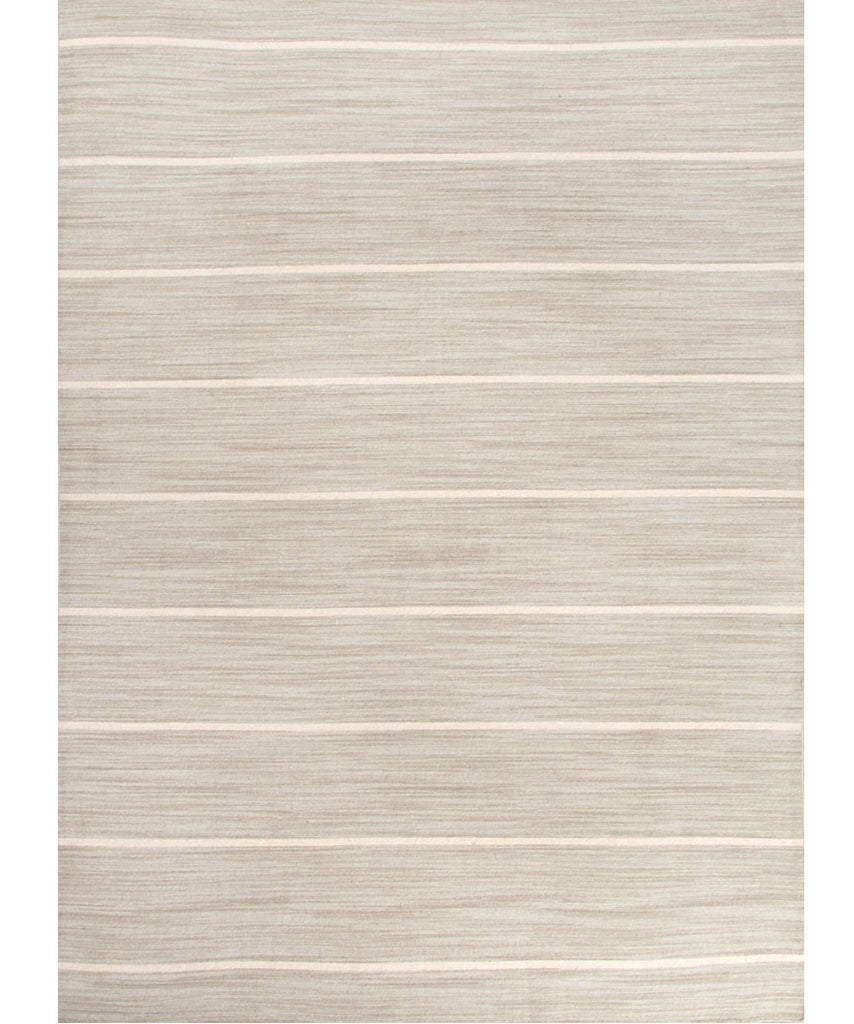 Cape Cod Stripe Flat Weave Rug, Light Gray