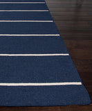 Cape Cod Stripe Flat Weave Rug, Navy